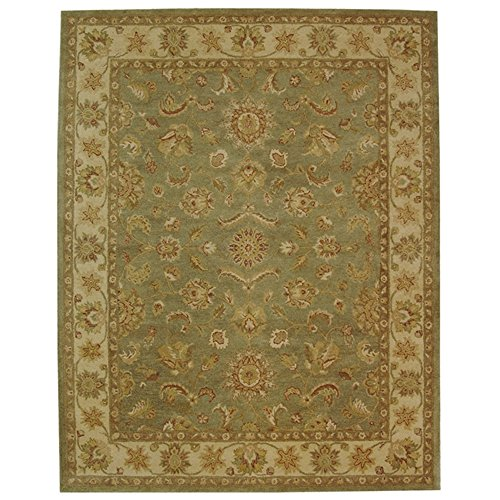 Safavieh Antiquities Collection AT313A Handmade Traditional Oriental Green and Gold Wool Area Rug (12