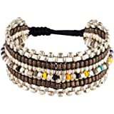 81stgeneration Bracelet ton argent Laiton réglable Couleur petite perle Mixte