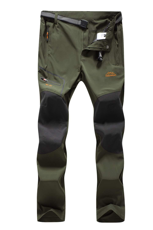 DAFENP Pantalon Randonnee Homme Outdoor Ete Pantalon Trekking Camping S/échage Rapide Leger Pantalon Montagne