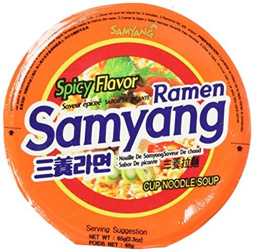 - Spicy Flavor Roasted Cup Noodles Soup (x 6 Cups), Spicy Flavor Cup Ramyun Korean Noodle Ramen