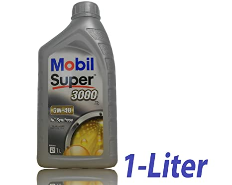 Mobil 1 Super 3000 - Aceite de Motor, 5W-40, HC Synthese