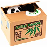 Xubox Stealing Coin Panda Box, Cute Panda Stealing Coin Money Box Piggy Bank Little Bear Automatic Stealing Money Toy Bank with English Speaking, Coin Saving Box Great Gift Ideas for Babies and Kids