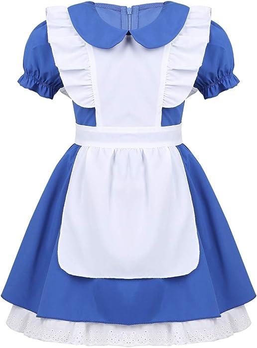 2a9570a0f51 Alvivi Déguisement Alice Robe Enfant Princesse du Pays des Merveilles Conte  De Fée Livre Jour Halloween