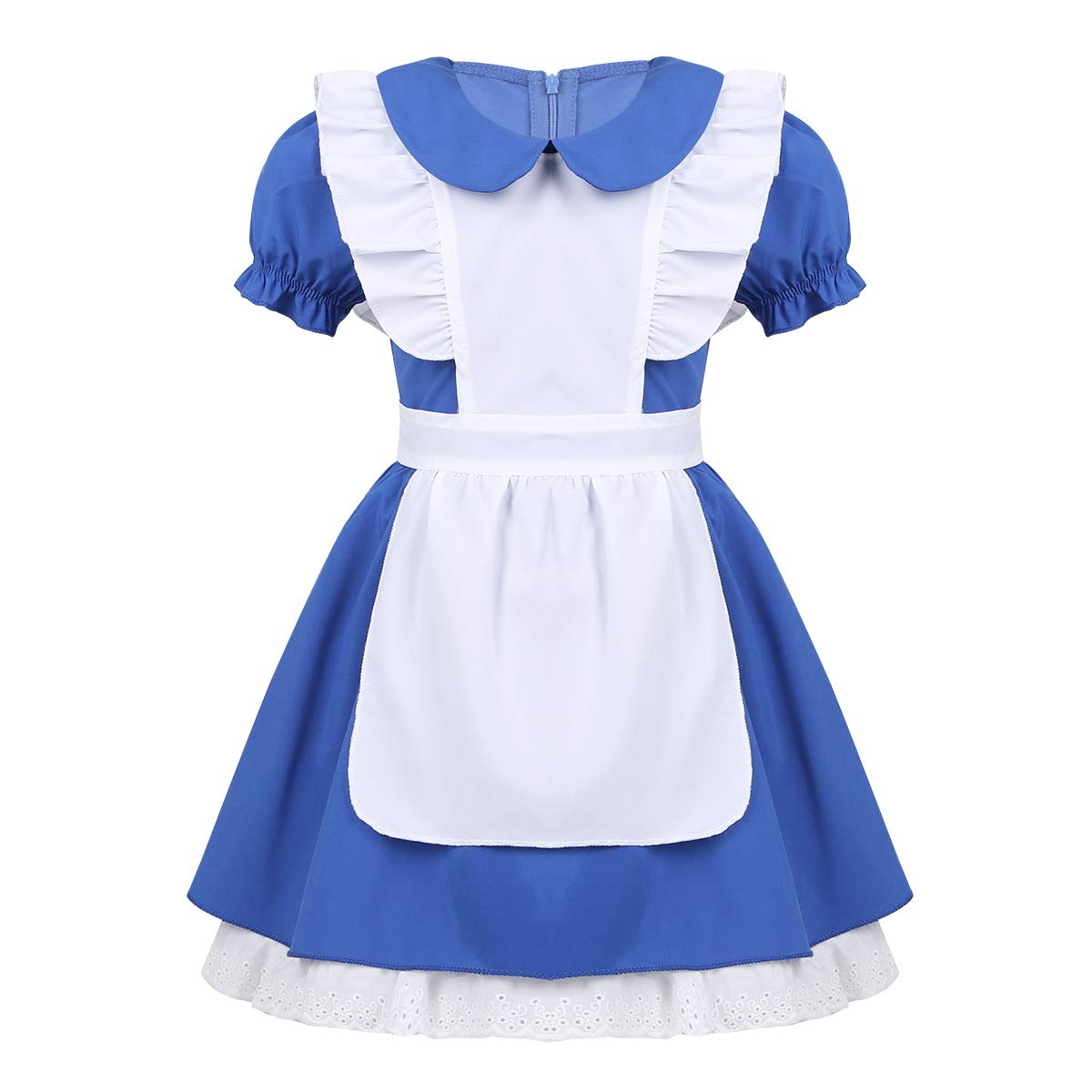 YiZYiF Princess Alice Girls Play Dress Up Toddler Adventure Cotton Apron Halloween Costumes Blue 18-24Months