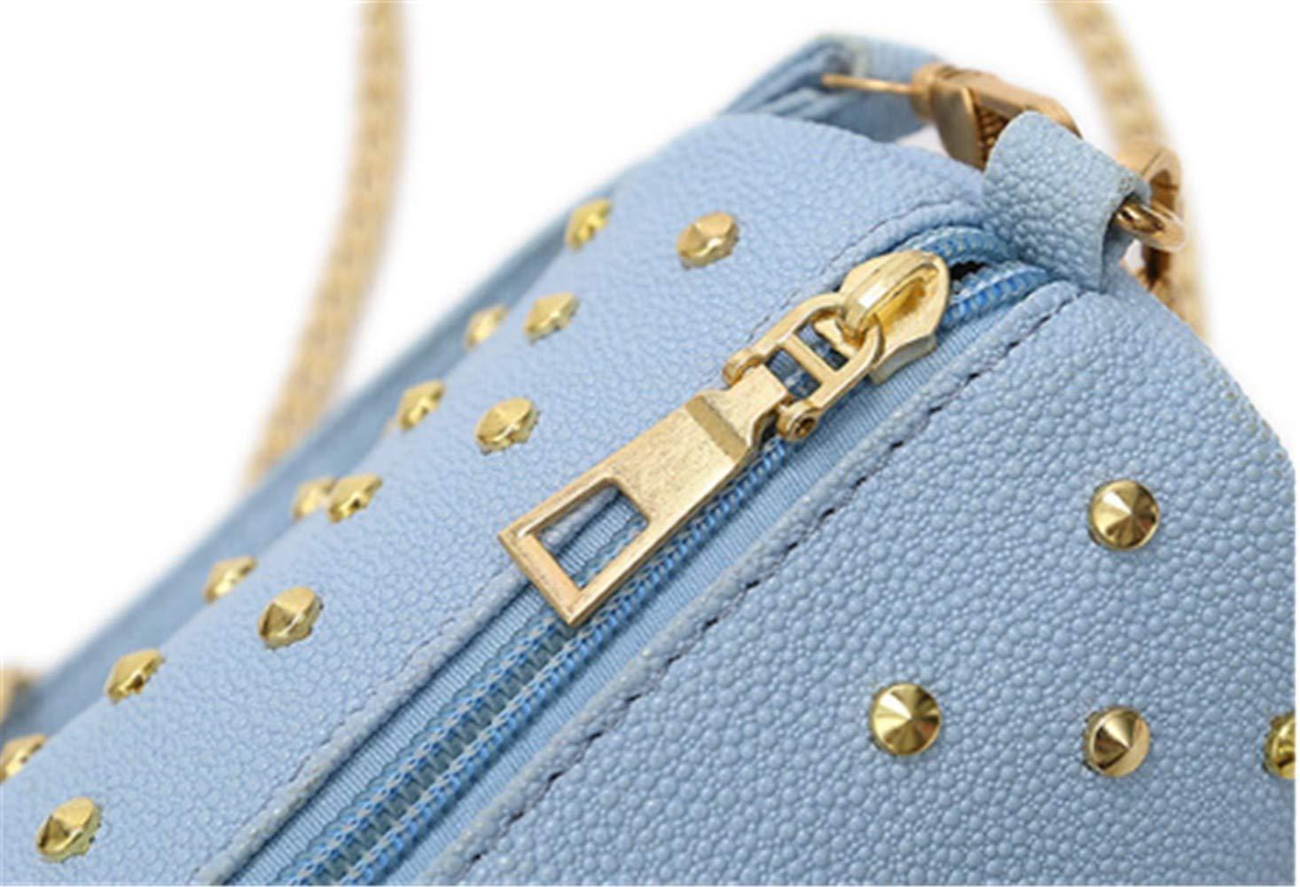 Handtasche Damennieten Kette Minimalistisch Umhängetasche Umhängetasche Umhängetasche Mit Einer Schulter Blau B07KQBM2T5 Henkeltaschen Modernes Design ab6cf5