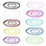 BodyJ4You 30PC Choker Stretch Gothic Tattoo Henna Necklaces Bracelets and Rings - Set of 10