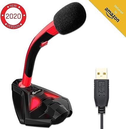 KLIM™ Voice Micrófono USB con Base para Ordenador - Micro de ...