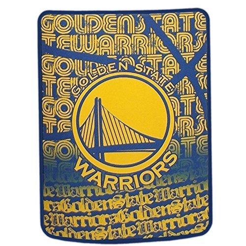 The Northwest Company NBA Golden State Warriors Redux Micro Raschel Throw, Yellow, 46 x 60