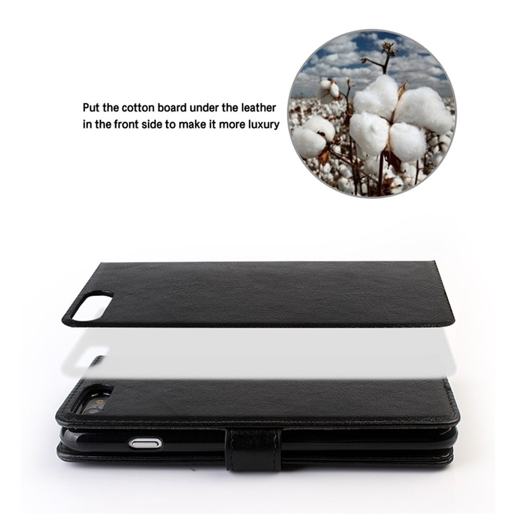 Zhhmeiruian for iphone 6/6plus 7/8 7plus/8plus Wallet - Book Case, Detachable 2 in 1 PU Leather Lightweight Anti-scratches Shockproof [Card Slots] [Magnetic Closure]