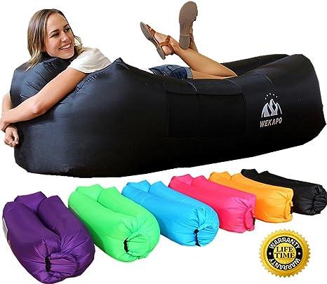 WEKAPO Inflatable Lounger Air Sofa Hammock Portable,Water Proofu0026 Anti Air  Leaking Design