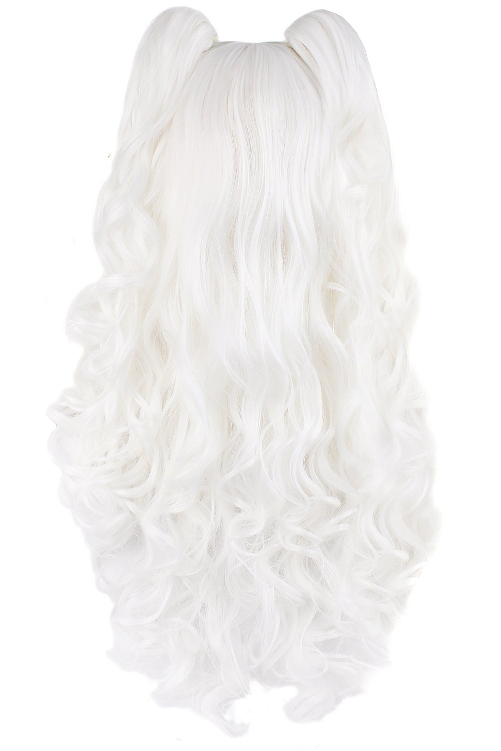 Brown MapofBeauty 28//70cm Lolita Long Curly Clip On Ponytails Cosplay Wig