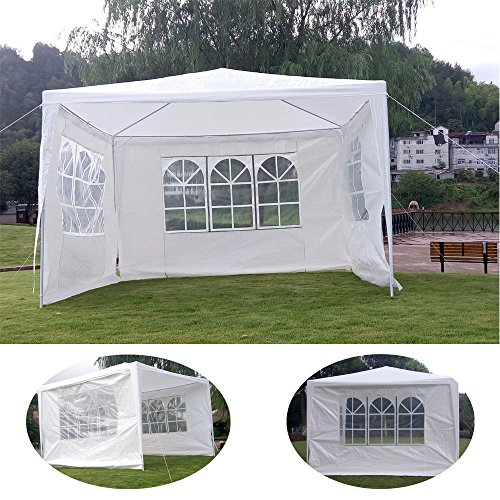 Outdoor 10'x10'Canopy Party Wedding Tent Gazebo Pavilion Cater Events 3 Sidewall