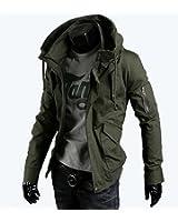 Cerasus ミリタリー ジャケット メンズ コート 春 カジュアル ジャンパー スタジャン ライダース バイク アウター 長袖 ファッション