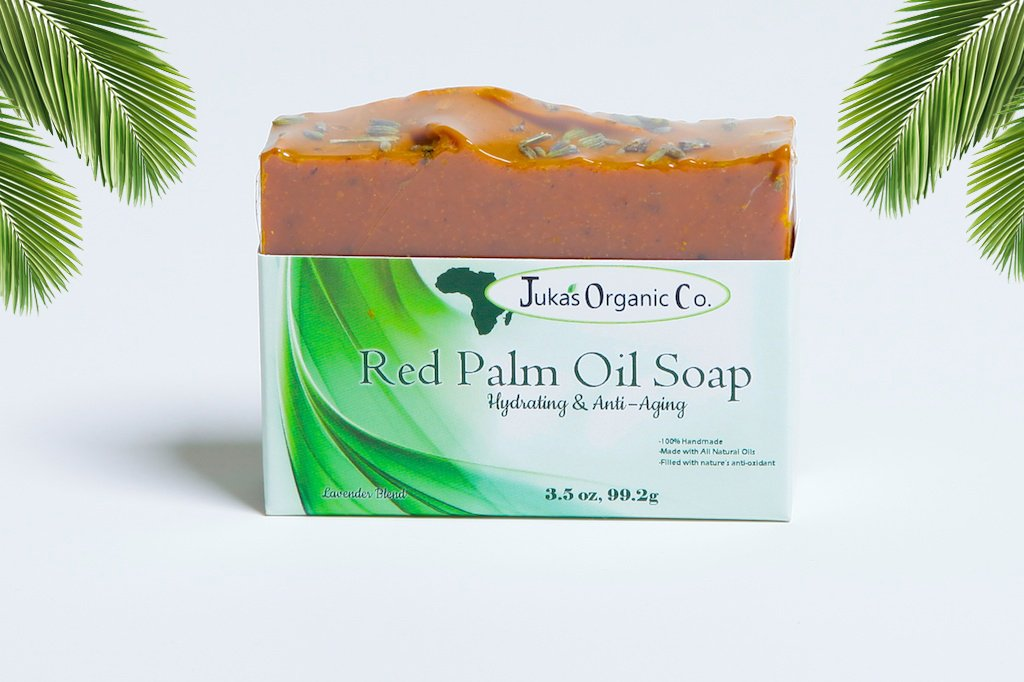 Organic Red Palm Oil Soap (Hydrating & Anti Aging) Lavender Blend