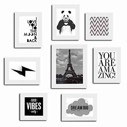Buy Painting Mantra Set of 8 Quotes/Mix Photo Frames-Theme Wall ...