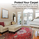 """Reusable Furniture Sliders for Carpeted Surfaces – Move Heavy Furniture Quickly and Easily with Furniture Sliders 9-1/2"""" x 5-3/4"""" Large Oval SuperSliders (4 Pieces)"""