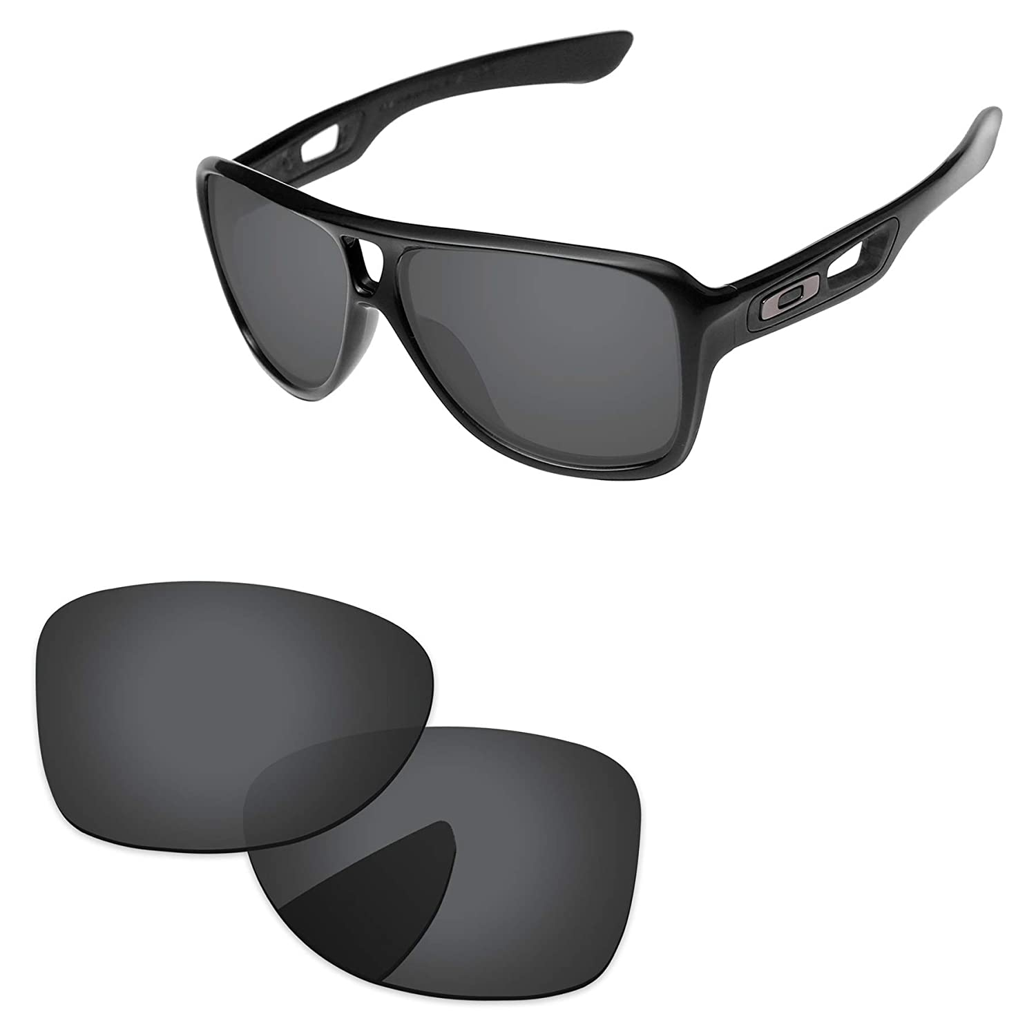 2b6408dfb8 Amazon.com  PapaViva Lenses Replacement for Oakley Dispatch 2 Black Grey   Clothing