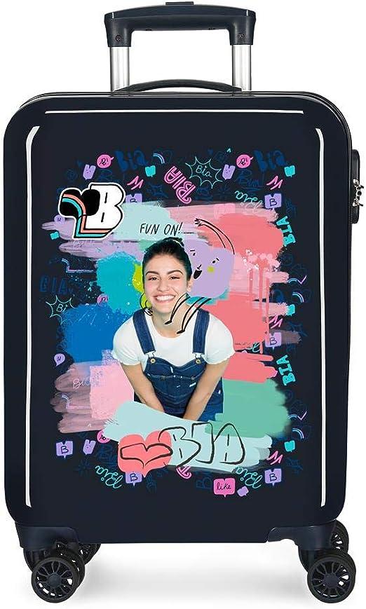 Cabin Suitcase Blue 38 x 55 x 20 cm Rigid ABS Side Combination Closure 34L 2.7 kg 4 Wheels Double Hand Luggage Disney Boo