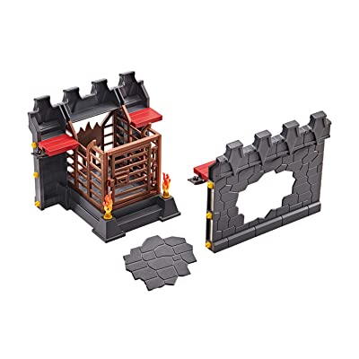 PLAYMOBIL Add-On Wall Extension for Burnham Raiders Building Set 9841: Toys & Games