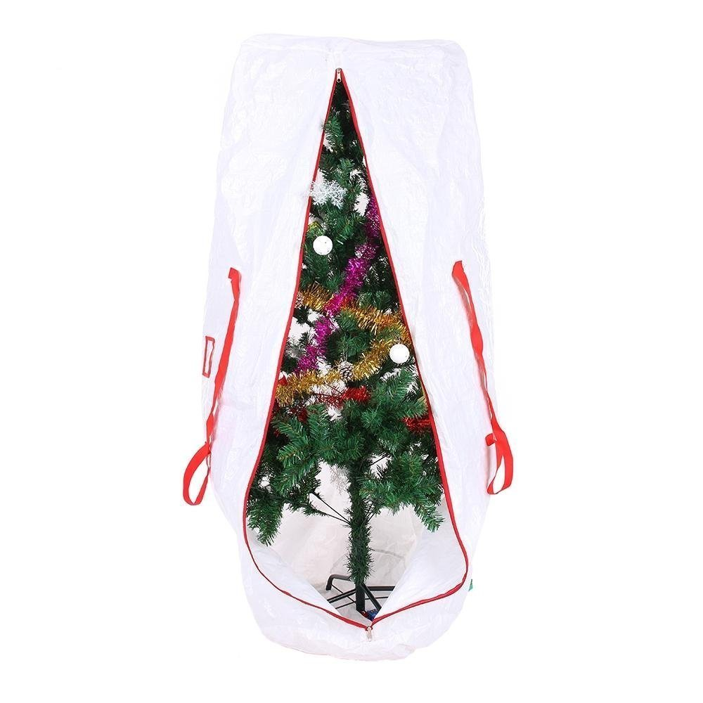 Ohuhu Christmas Tree Storage Bag For 5 Foot Tree or 9 Foot Disassembled Christmas Tree, White (5.2' x 2.1' x 2.1')