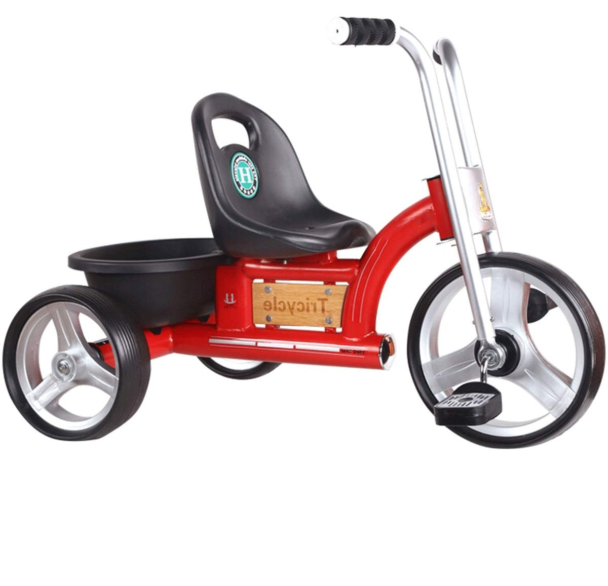 Children's Tricycle Three-Wheeled Baby Stroller Retro British Car Baby Bicycle Simple Tricycle