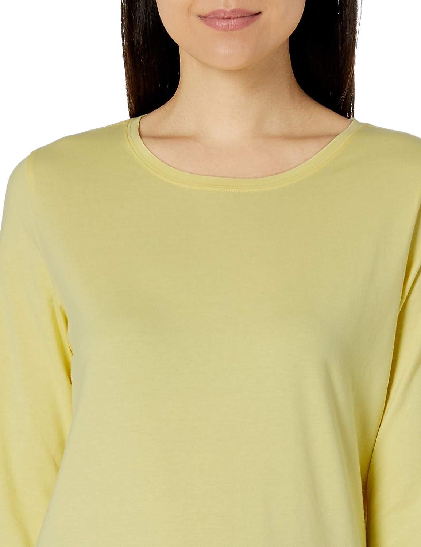 Essentials Womens Classic-Fit Long-Sleeve Crewneck T-Shirt