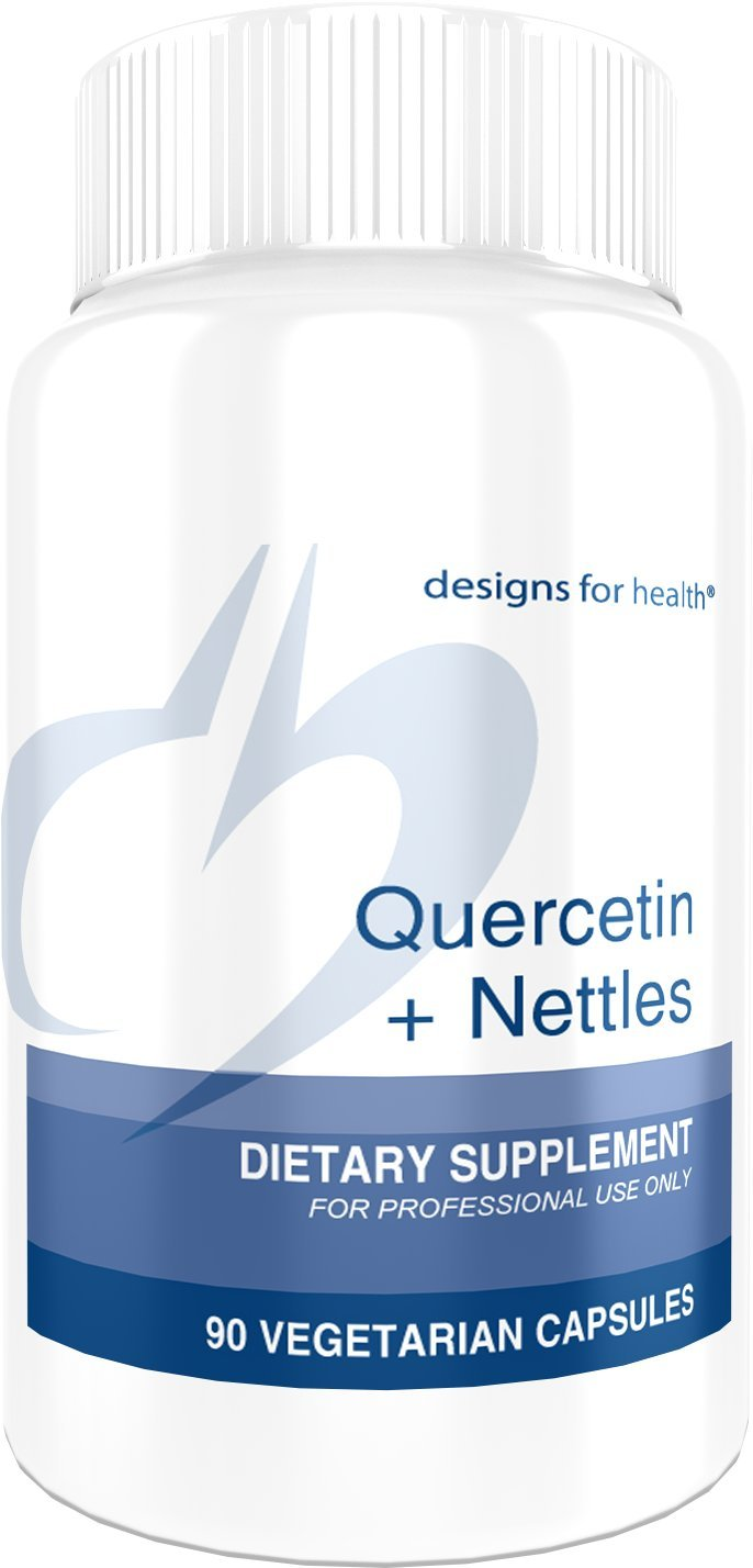 Designs for Health Quercetin + Nettles Capsules - 600 Milligrams Flavonoids, High in Natural Vitamin C + Iron (90 Capsules)