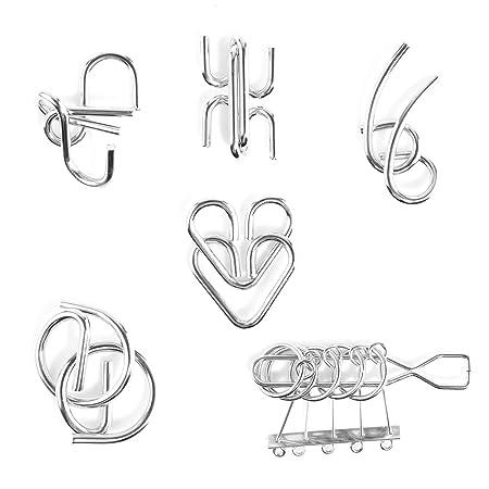 Rompecabezas Metal Fokom 20pack Puzzles 3d Juegos De Ingenio