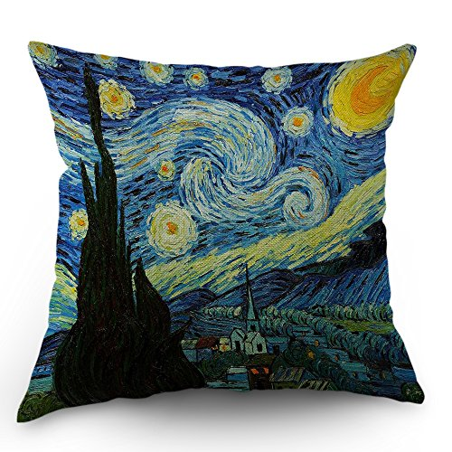 Van Gogh Pillow Cover Classic Arts Starry Night Throw Pillow Case 18