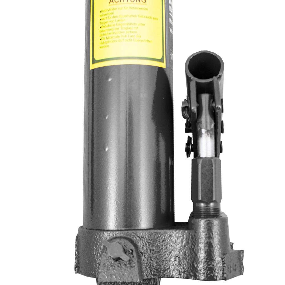 BITUXX/® Hydraulik Zylinder mit Doppel Hub Pumpe Teleskopzylinder 8 Tonnen 8T bis 115cm Hub Rot