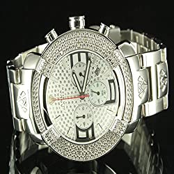3 Dial Men Father Day Metal Band Gift Aqua Master Rodeo Diamond Watch Silver New