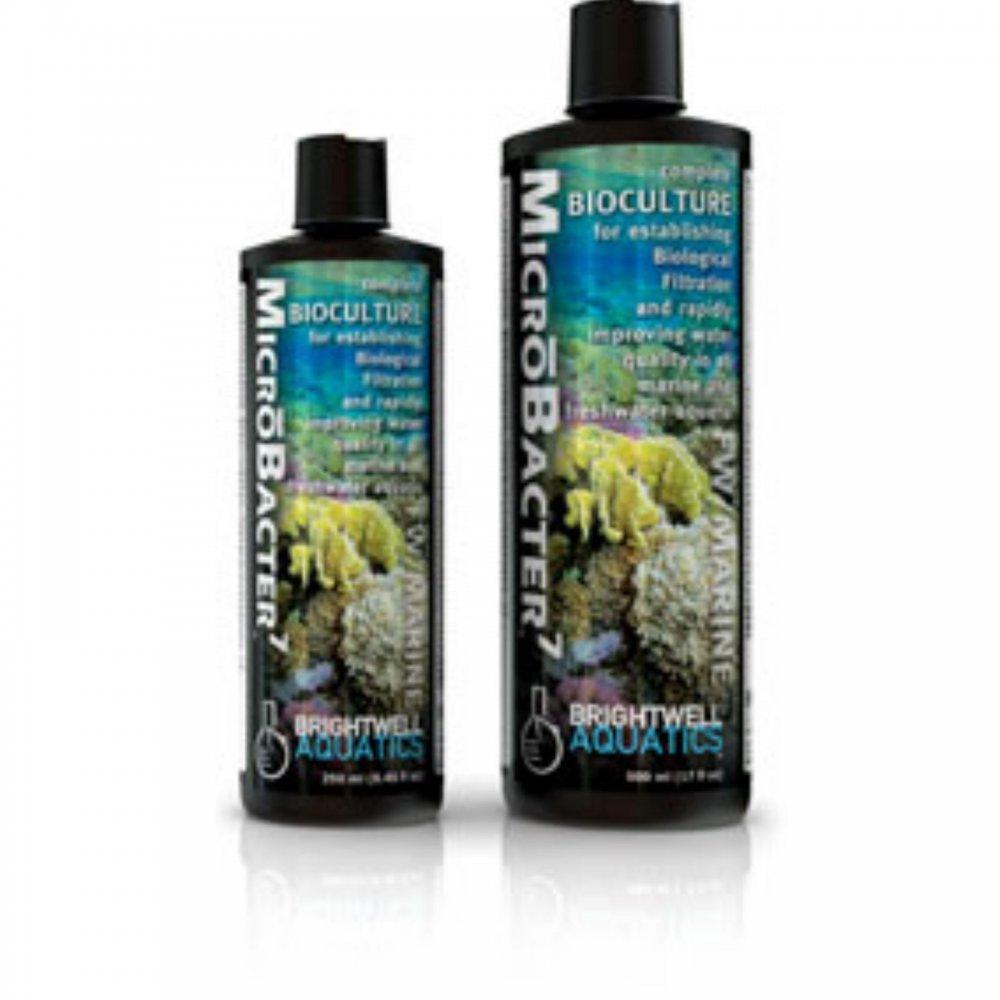 Brightwell Aquatics MicroBacter7 - Complete Bioculture for Marine and FW Aquaria 250mL / 8.45 Ounce