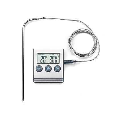 IBILI 743405 termómetro Digital/magnético con sonda, Acero Inoxidable, Plata, 15 x