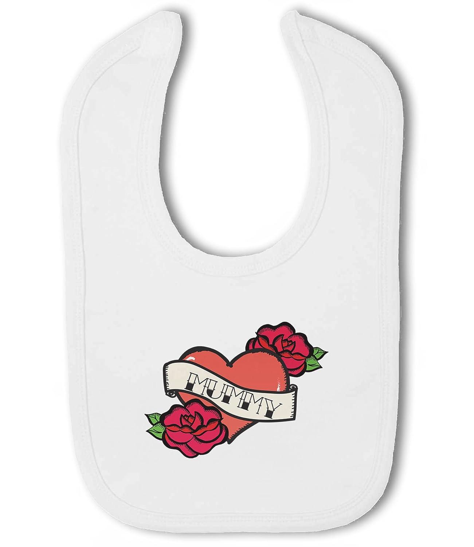 Corazón de tatuaje para mamá - babero de velcro para bebé: Amazon ...