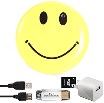 Smiley Face Pin Spy Camera Hidden Digital Video Recorder Best Smile Face Badge Wearable Camera Mini Video Recorder Photo Video PC Webcam Functionality Satisfaction Guaranteed Bullet Cameras at amazon