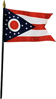 product image for 4x6 E-Gloss Ohio Stick Flag - Flag Only - Qty 1