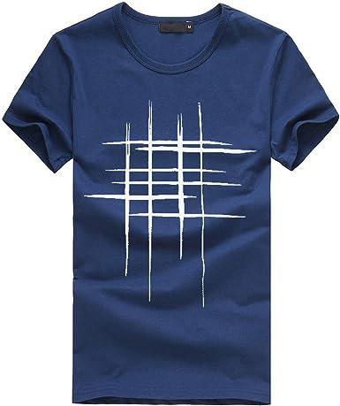 MEIbax - (M - 3XL) - Camiseta - Moda - para Hombre - T-Shirt Hombre Manga Corta Casual Moda Cuello Redondo Chico Tops: Amazon.es: Ropa y accesorios