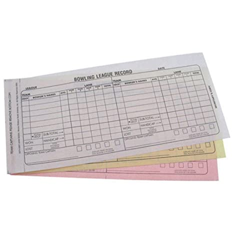 photo relating to Printable Bowling League Recap Sheets identify Bowlerstore Products and solutions Bowling Workers Rating Guide- Carbonless 3 Section Recap Sheets