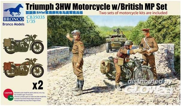 /Figurines Triumph 3HW Motocycle MP Figure Set Bronco Models CB35035/