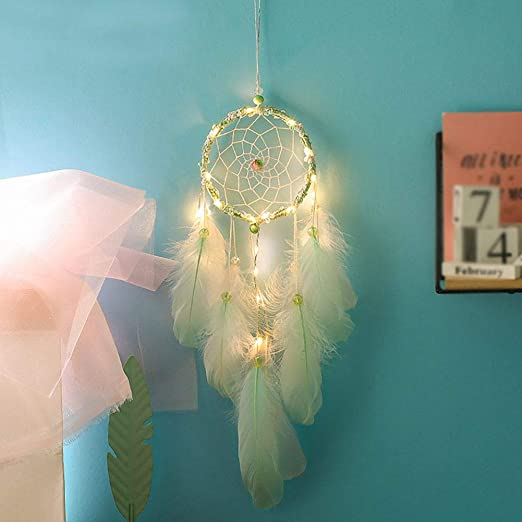 Fantasy Silver Dream Catcher With Feather Bead Wall Hanging Home Decoration New#