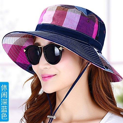 LLZTYM Cappellino da Donna Estivo Parasole da Esterno Pesca Cappello da  Pescatore Estate Anti Ultravioletto Crema Solare Crema ... 8c8b40925717