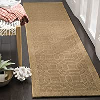 Safavieh Palm Beach Collection PAB323M Maize Sisal & Jute Runner (2 x 8)