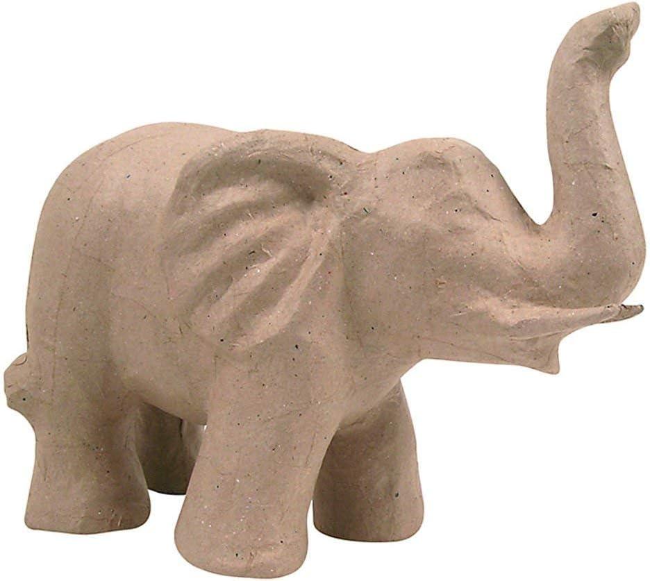 23 x 12 x 14 cm Brown D/écopatch Mache Elephant