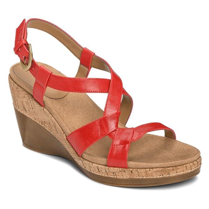 Amazon.com | Aerosoles Women's Hedge Maple Wedge Sandal | Platforms & Wedges