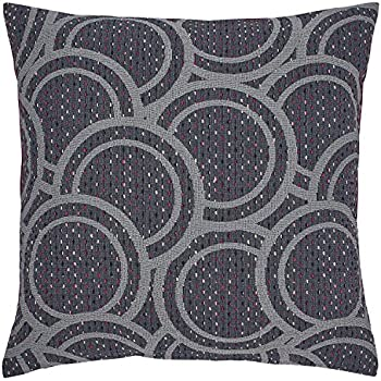 Rivet Abstract Pattern Throw Pillow Cover - 20 x 20 Inch, Grey