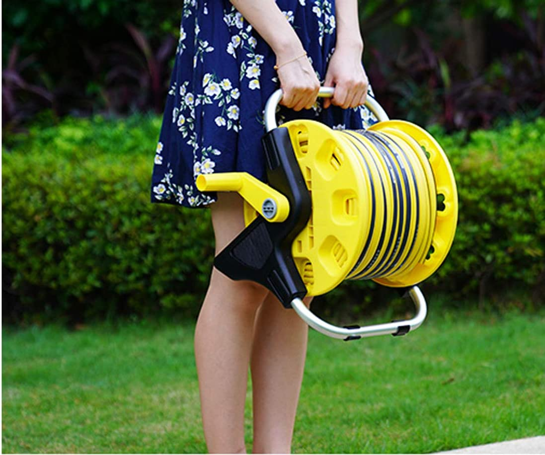 Portable Garden Hose Cart, Holds 115 Ft 1/4 Water Hose Pipe Reel Holder Trolley - 360°Rotating Water Inletfor Watering Garden Truck Storage Tool Without wheels