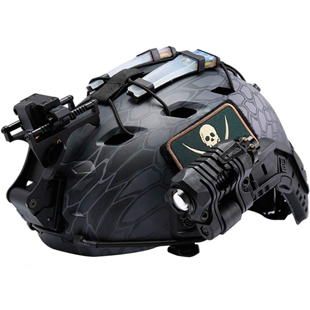 Tactical Helmet Identification Marker LED Light,Airsoft Shooting Helmet Safety Flashing Light Survival Signal Light 5 Colors
