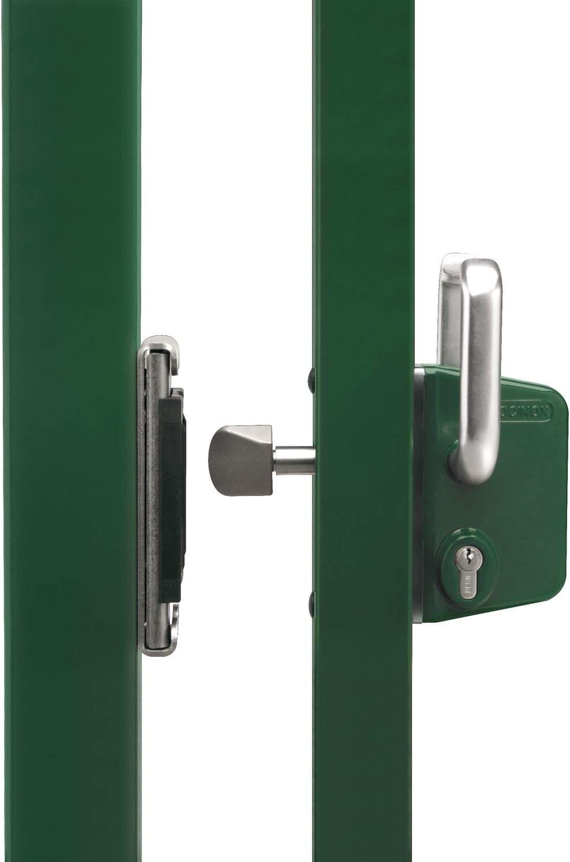 LOCINOX LSKZ4040U2LZILVVSZS LSKZ4040U2L - Cerradura de puerta corredera (para tubos cuadrados de 40 mm, aluminio), color plateado: Amazon.es: Bricolaje y herramientas