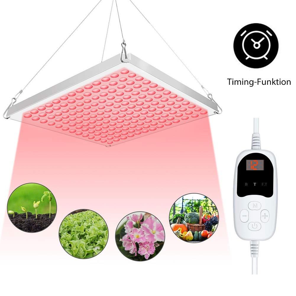 Roleadro 75W Lampe LED Horticole Croissance Floraison Timing-Funktion, Panneau LED Culture Indoor Plante Croissance