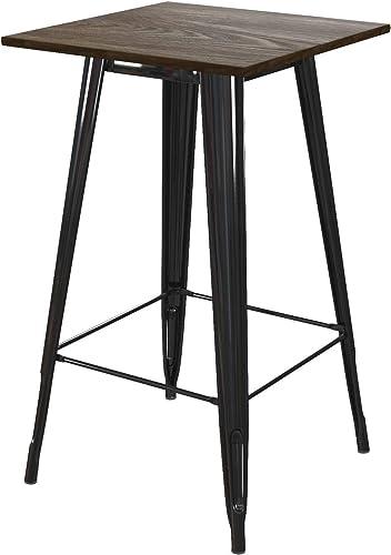DHP Elie Bar Table, Rustic Design, Black